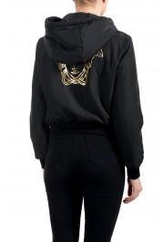 Versace Women's Black Zip Up Hooded Bomber Jacket : Picture 4