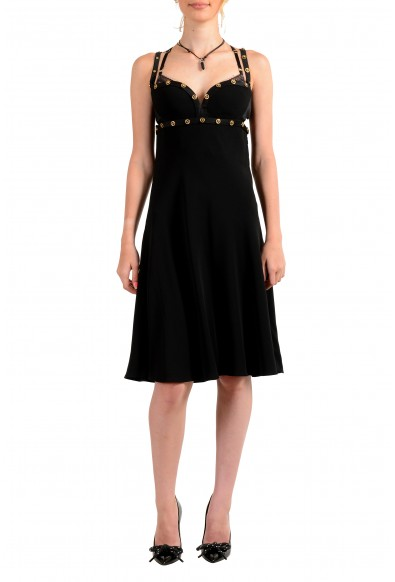 Versace Tribute Women's Black 100% Silk Sleeveless Mini A-Line Dress