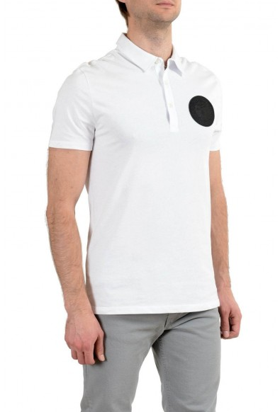 Versace Collection Men's White Logo Short Sleeve Polo T-Shirt: Picture 2