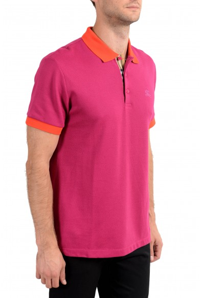 Burberry Men's Raspberry Pink Short Sleeve Polo Shirt: Picture 2