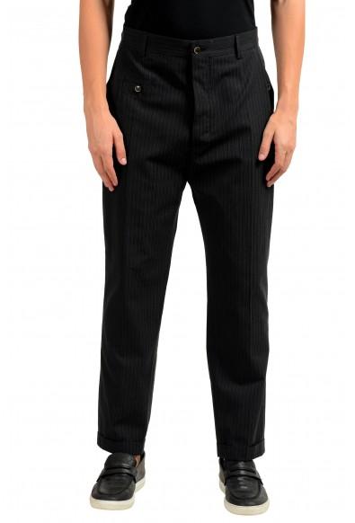 Dolce & Gabbana Men's Wool Striped Dress Pants