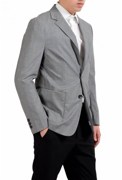 Malo Men's Wool Stretch Gray Two Button Blazer Sport Coat: Picture 2