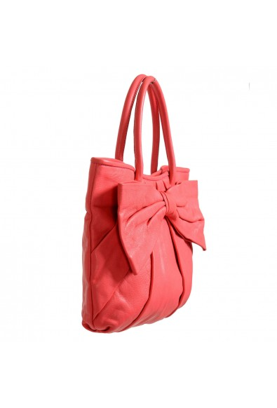 Red Valentino Women's Pink 100% Leather Bow Decorated Tote Shoulder Bag: Picture 2