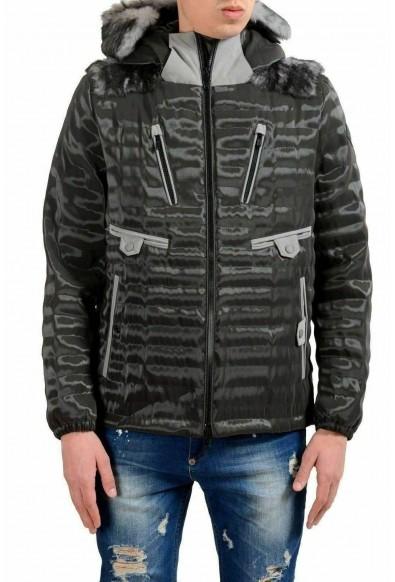Moncler Men's Fur Goose Down Full Zip Hooded Jacket