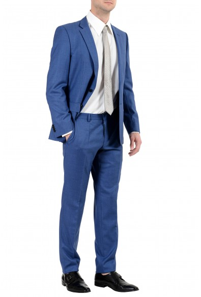 "Hugo Boss ""Huge6/Genius5"" Men's 100% Wool Slim Blue Two Button Suit: Picture 2"