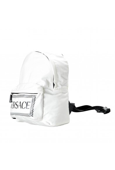 Versace Women's White Logo Canvas Small Backpack Bag: Picture 2