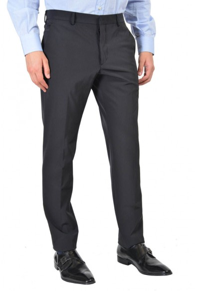 Prada Men's Blue Flat Front Pants
