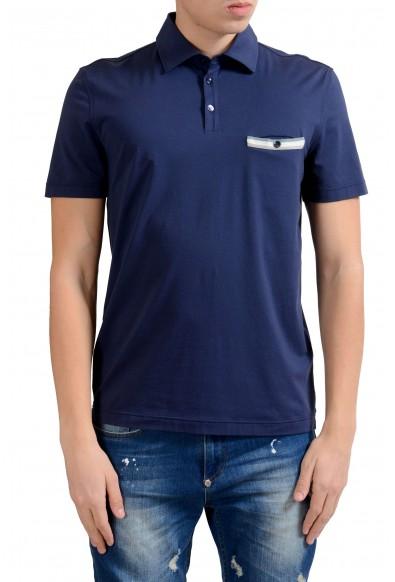 Malo Men's Navy Blue Stretch Short Sleeve Polo Shirt