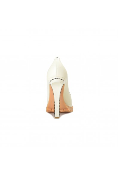 Marni Women's Ivory Leather High Heel Classic Pumps Shoes : Picture 2