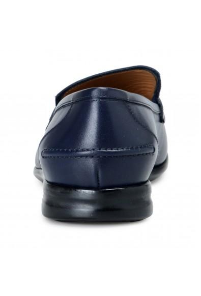 "Salvatore Ferragamo Men's ""Tangeri 2"" Blue Leather Slip On Loafers Shoes: Picture 2"