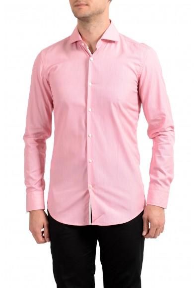 "Hugo Boss Men's ""Jery"" Slim Fit Pink Long Sleeve Dress Shirt"