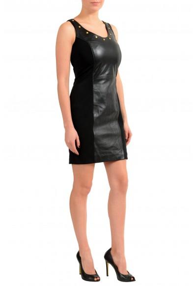 Versace Versus 100% Leather Black Women's Sheath Dress: Picture 2