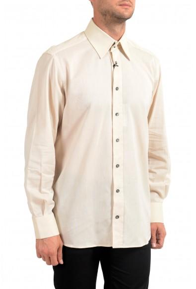 Dolce&Gabbana Men's Slim Beige Long Sleeve Dress Shirt