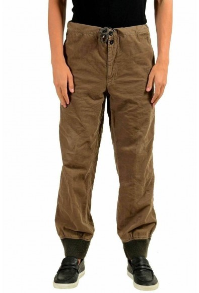 Moncler Men's Brown Corduroy Casual Pants