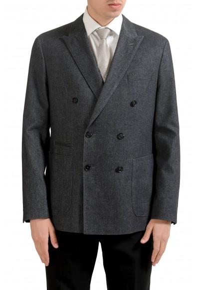 """Hugo Boss """"Morissey"""" Men's Gray Double Breasted Blazer Sport Coat"""