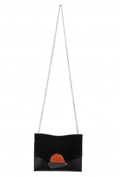 Proenza Schouler Women's Black Suede Leather Clutch Shoulder Bag