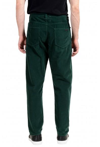 Prada Men's Green Corduroy Straight Leg Jeans: Picture 2