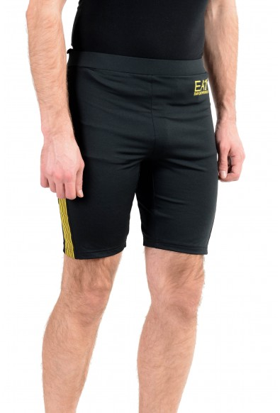 """Emporio Armani EA7 """"Train Squash"""" Men's Black Stretch Bike Shorts: Picture 2"""