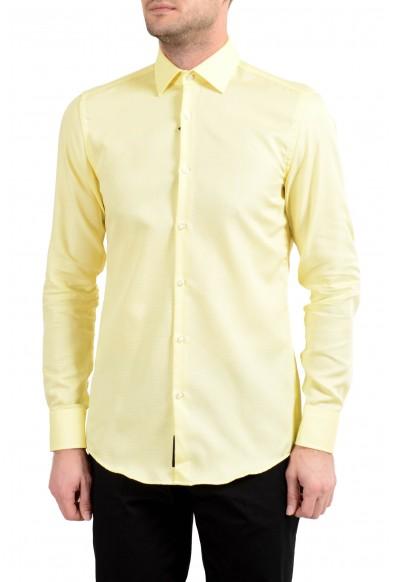 "Hugo Boss ""Jenno"" Men's Slim Yellow Button Down Long Sleeve Dress Shirt"