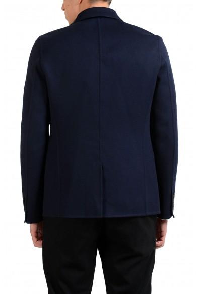 Valentino Men's Cashmere Leather Wool Blue Blazer Sport Coat : Picture 2