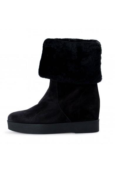 Salvatore Ferragamo Women's FALCON Leather Real Fur Boots Shoes: Picture 2
