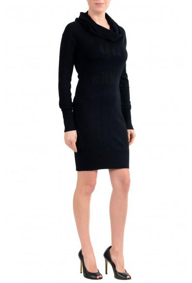 John Galliano Women's Black 100% Wool Knitted Long Sleeve Dress : Picture 2