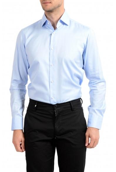 """Hugo Boss Men's """"Gerald"""" Regular Fit Blue Long Sleeve Dress Shirt: Picture 2"""