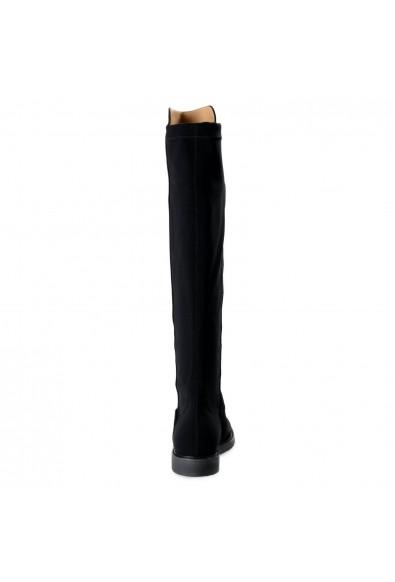 "Salvatore Ferragamo Women's ""FESTER"" Black Suede Leather Boots Shoes : Picture 2"