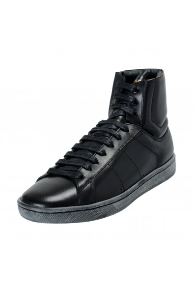 Saint Laurent Women's Leather High Top Fashion Sneakers Shoes