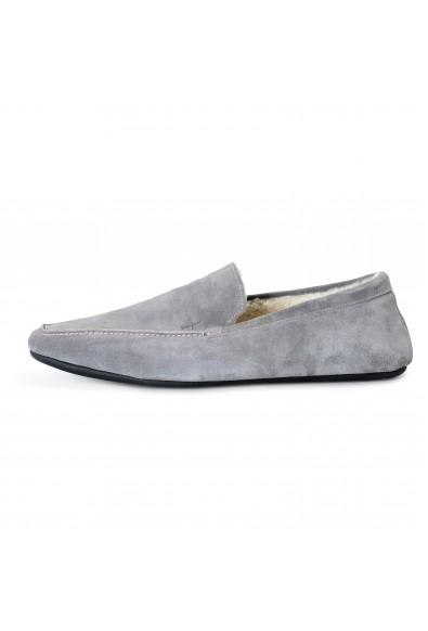 "Salvatore Ferragamo Men's ""FELTRE"" Gray Fur Lining Suede Leather Loafers Shoes: Picture 2"