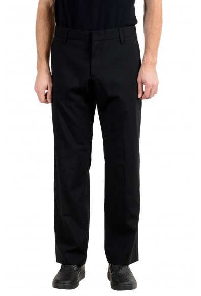 "Hugo Boss ""Halmex"" Men's Wool Black Dress Pants"