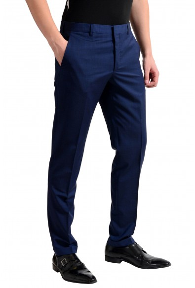 Prada Men's Wool Navy Blue Flat Front Dress Pants: Picture 2