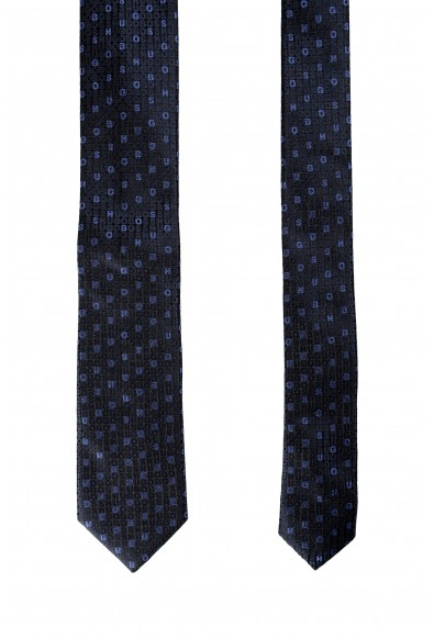 Hugo Boss Men's 100% Silk Logo Print Tie: Picture 2