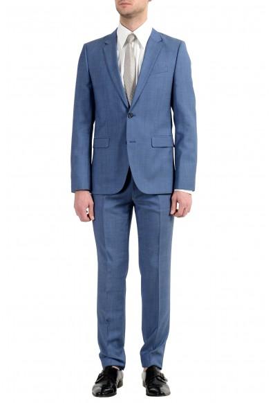 "Hugo Boss ""Astian/Hets182"" Men's 100% Wool Extra Slim Blue Two Button Suit"
