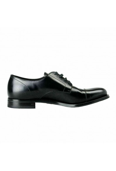 Prada Men's Black Polished Leather Oxfords Shoes: Picture 2