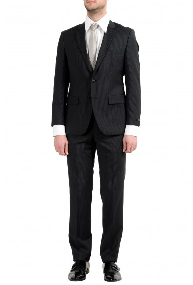 """Hugo Boss """"The Grand1/Central1US"""" Men's 100% Wool Striped Two Button Suit"""