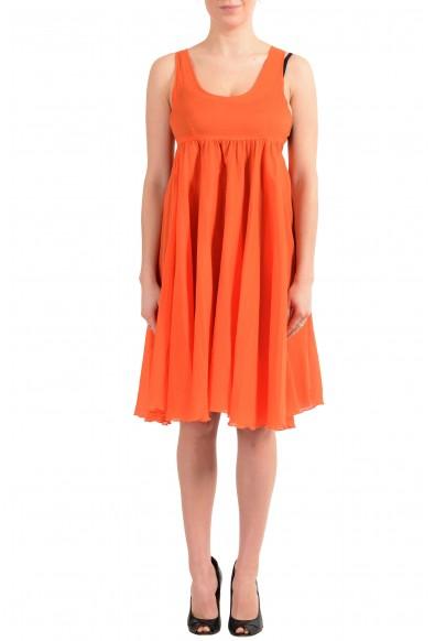 Versace Jeans Couture Women's Orange Sleeveless Dress Sundress