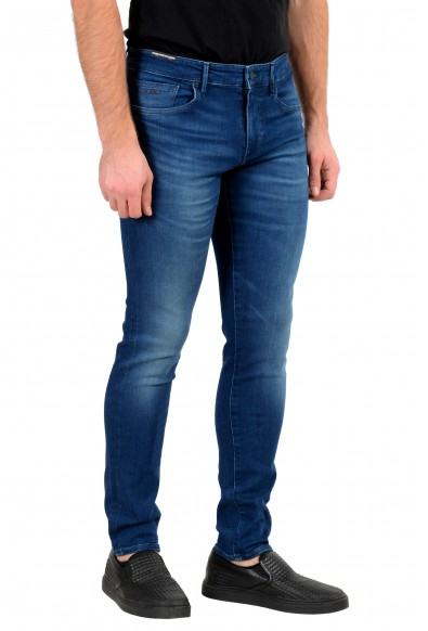 """Hugo Boss Men's """"Charleston BC"""" Extra Slim Fit Blue Wash Stretch Jeans: Picture 2"""