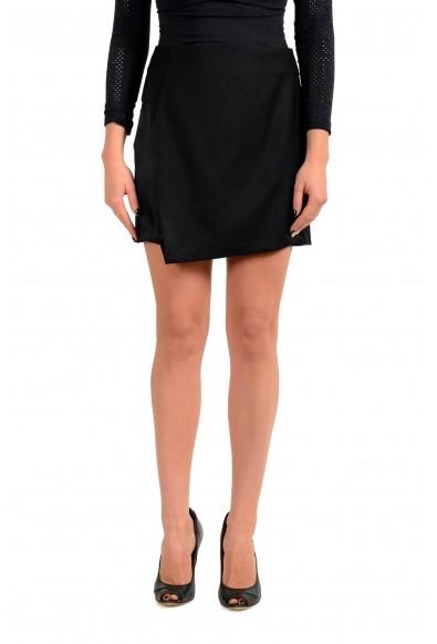 Maison Margiela MM6 Women's Black 100% Wool Mini Skirt