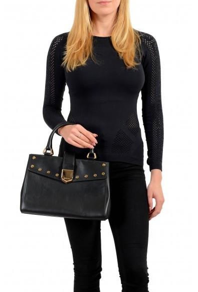 "Jimmy Choo Women's Black Leather ""Lockett"" Satchel Handbag Bag: Picture 2"