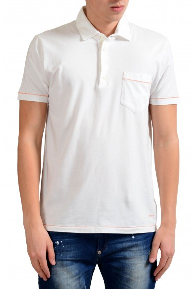 Malo Men's Stretch White Short Sleeve Polo Shirt