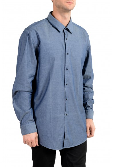 "Hugo Boss Men's ""Isko"" Blue Slim Fit Long Sleeve Dress Shirt"