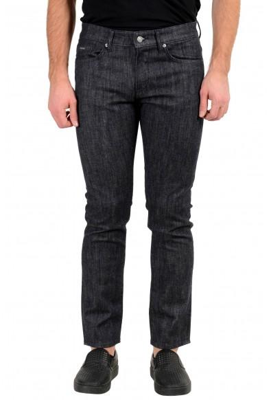 """Hugo Boss Men's """"Delaware3-1"""" Slim Fit Off Black Wash Stretch Jeans"""