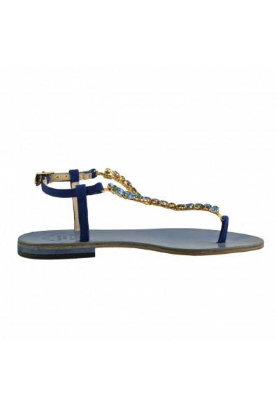 """Emanuela Caruso """"Capri"""" Women's Stones Trimmed Flat Sandals Shoes: Picture 2"""