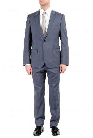 """Hugo Boss """"Henry/Griffin182"""" Men's 100% Wool Slim Gray Two Button Suit"""