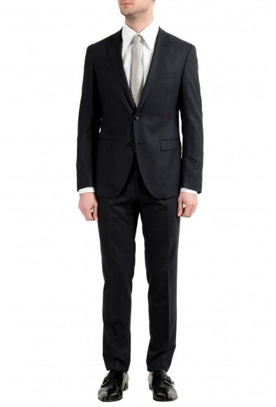 "Hugo Boss ""Reyno4/Wave2"" Men's 100% Wool Extra Slim Black Two Button Suit"