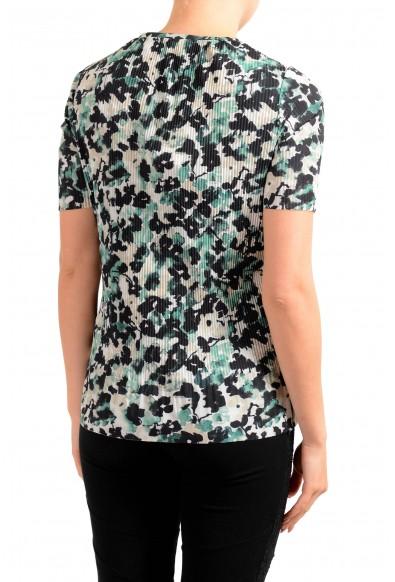 "Hugo Boss Women's ""Etalis"" Multi-Color Stretch Short Sleeve Blouse Top: Picture 2"