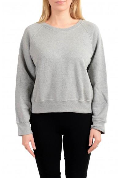 Emporio Armani Women's Gray Crewneck Pullover Sweater Sweatshirt