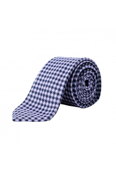 Z Zegna Men's Purple Geometric Print Silk Tie