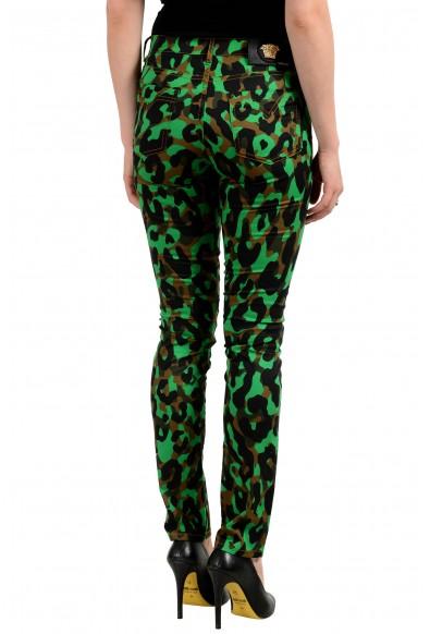 Versace Women's Multi-Color Animal Print Slim Leg Jeans: Picture 2